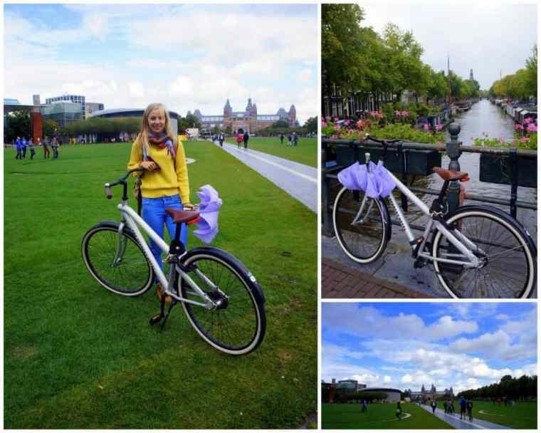 A girl on a bike Amsterdam
