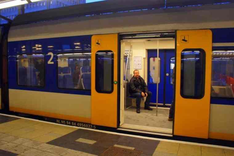 Train in Amsterdam