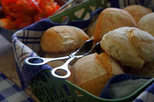 Breakfast rolls at Goodmorning Hostel Lisbon