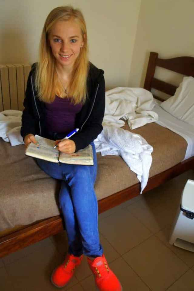 Taking some notes for my new blog post in Fatima, Portugal