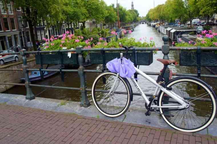 Bike in sunny Amsterdam