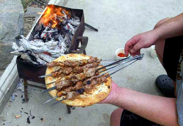 Kebabs-and-bread