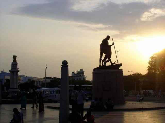 Marina Beach Gandhi Statue