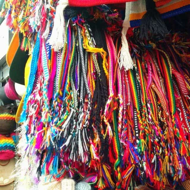 Browsing crafts at Mercado Artesenal