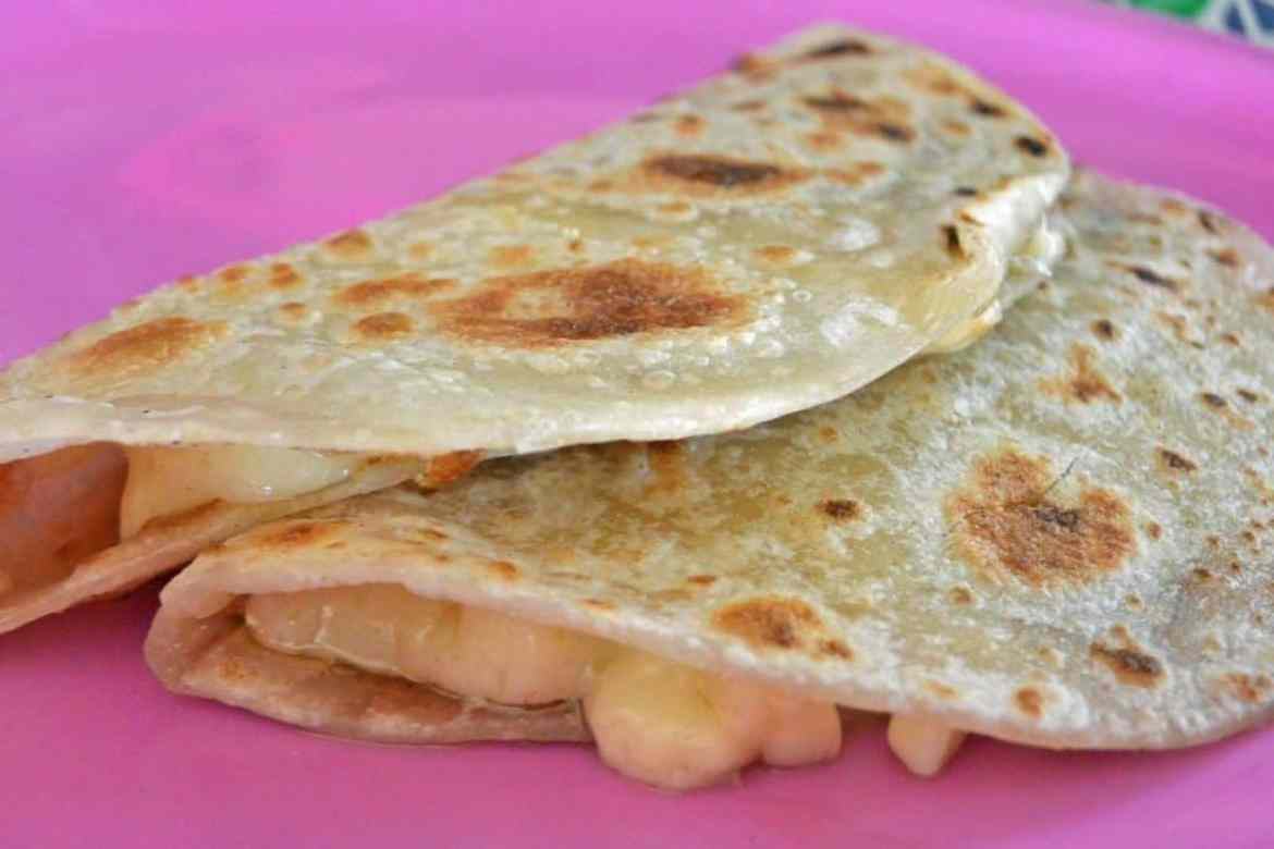 Flour Tortilla Cheese Quesadillas
