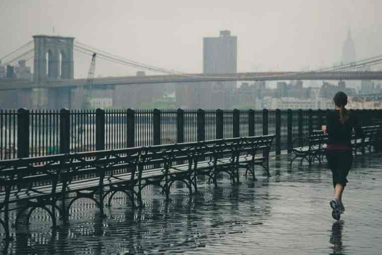 Jogging in the rain