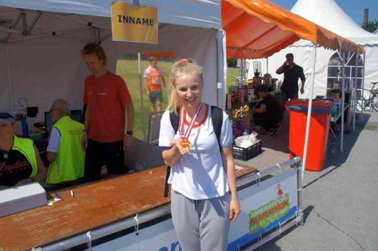 medal after a 5K run in amersfoort