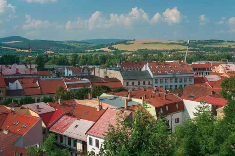 Trencin view from the top.