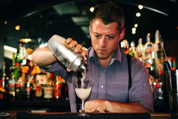 Jeremy of Travel Freak bartending