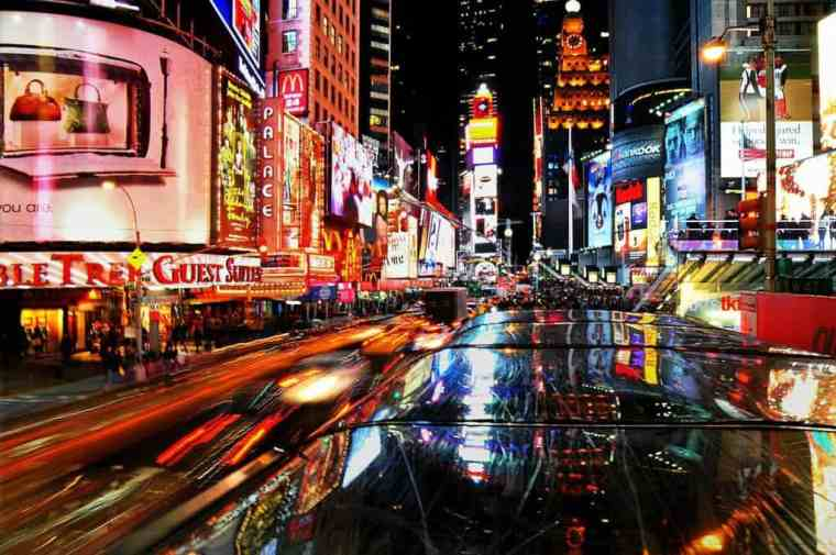 Broadway at night, New York City