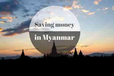 Saving money in Myanmar