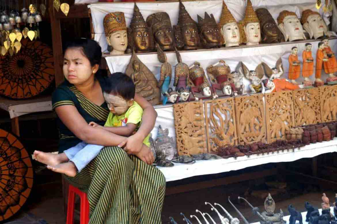 Local lady in Myanmar