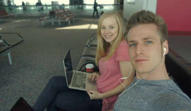 Agness and Cez at the airport