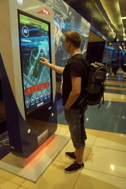 checking metro map in dubai