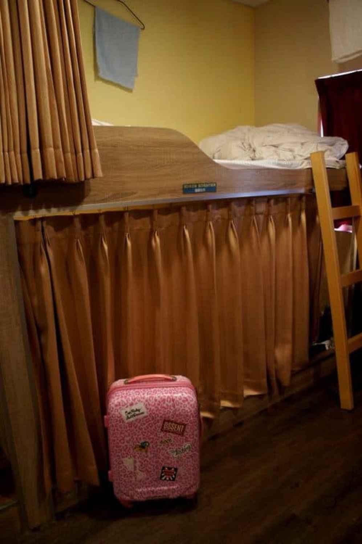 hostel bed japan