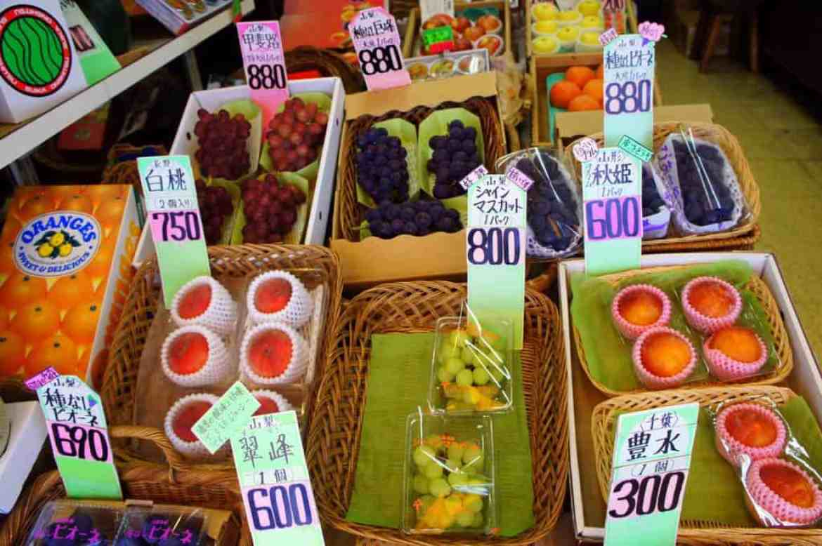 fruit market in japan