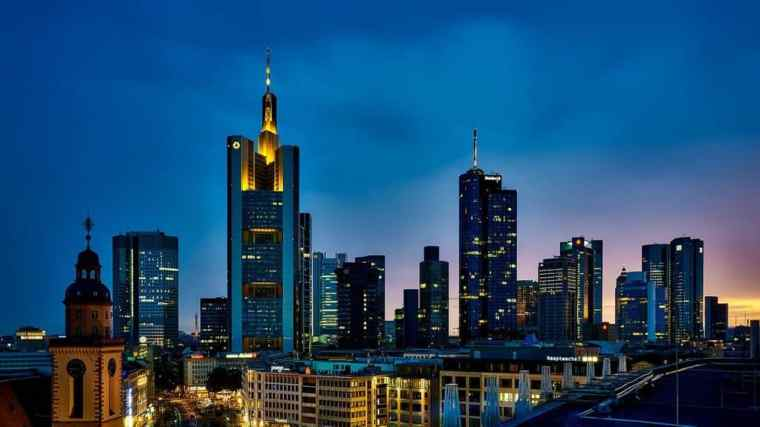 Frankfurt at night landscape
