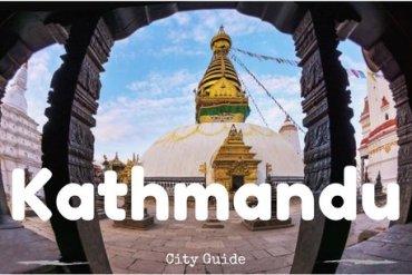 Kathmandu city guide cover