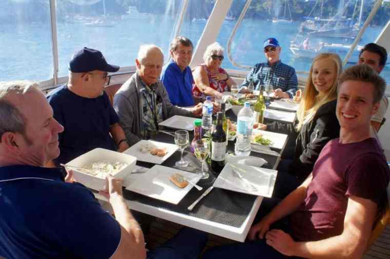 Enjoying the lunch at Sydney Sensational Cruise