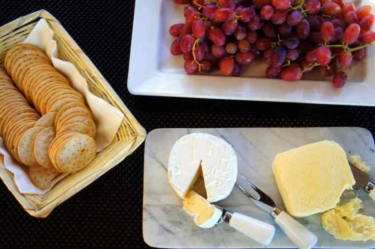 Grapes and cheese at Sydney Sensational Cruise