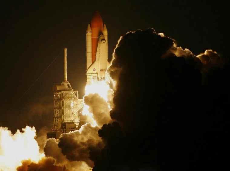 Rocket lift off