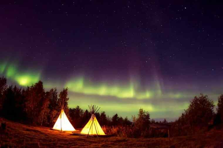 teepees camping
