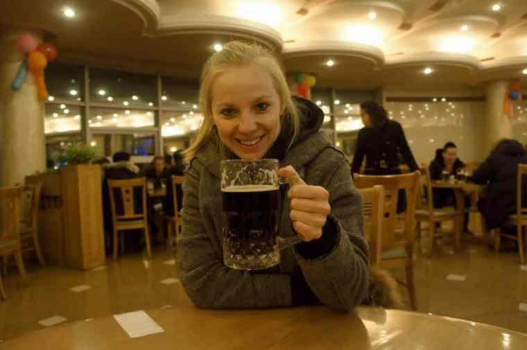 Drinking beer in North Korea