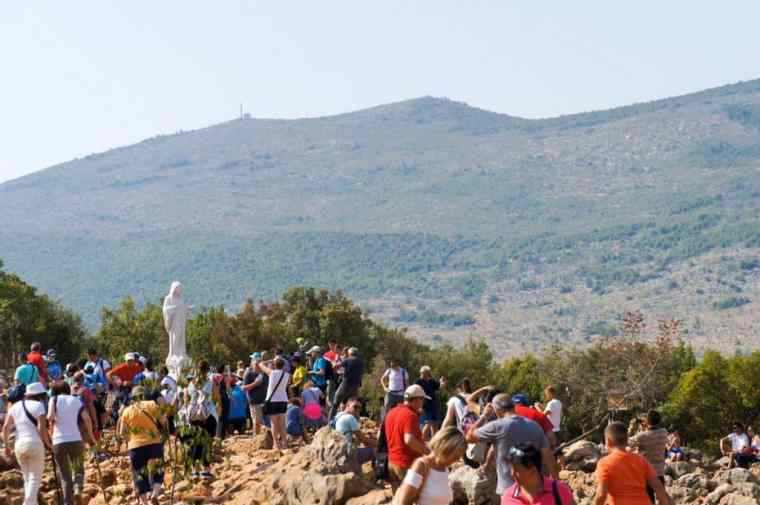 Medjugorje are Krizevac Hill