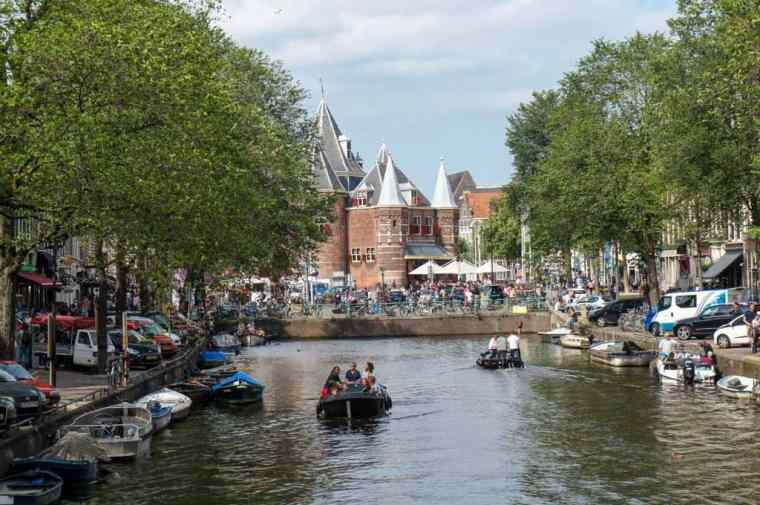 View of Amsterdam's canals