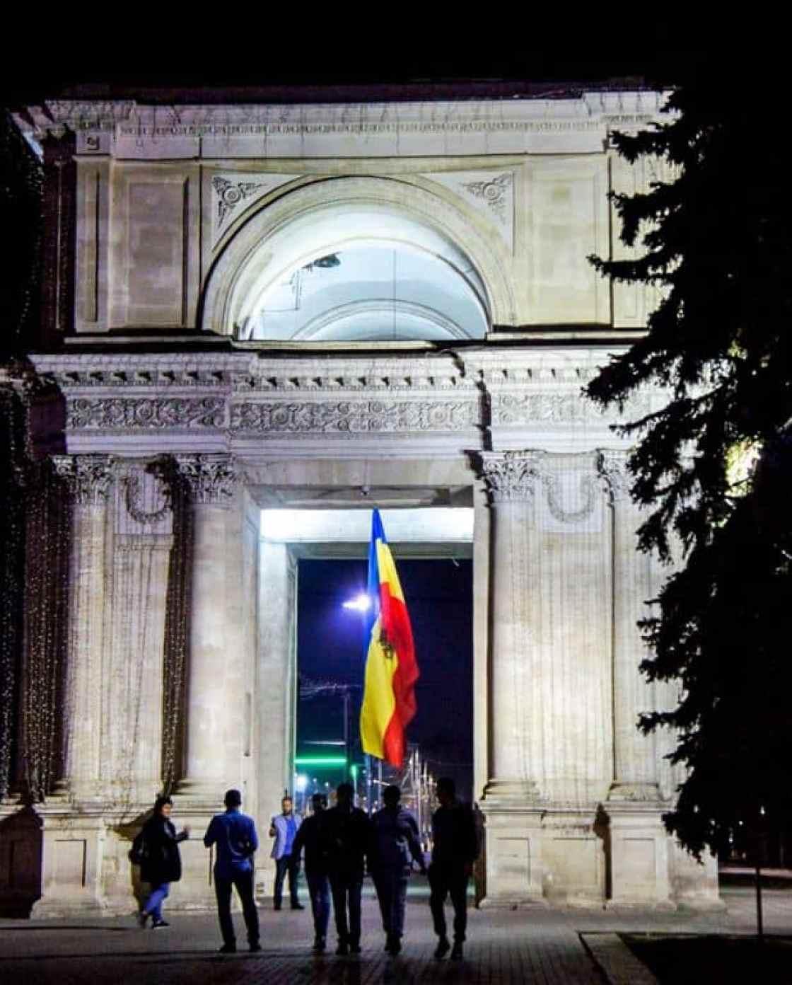 The Triumphal Arch in Chisinau