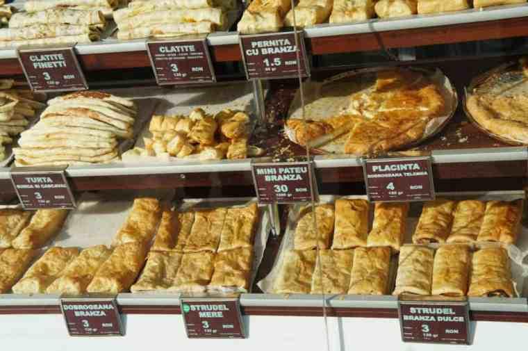 Pastries in Bucharest, Romania