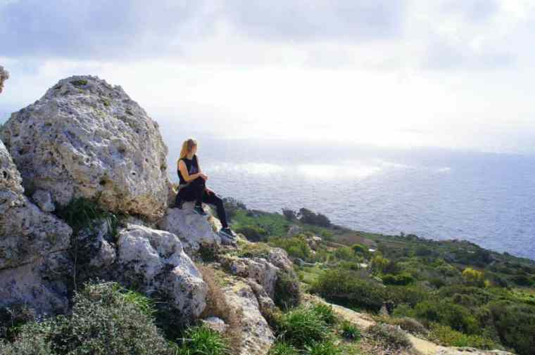 Agness of eTramping with a gorgeous view in Malta