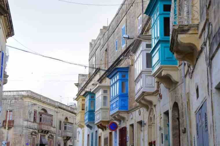 colorful buildings in Malta