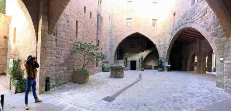 Inside the Castle of Cardona