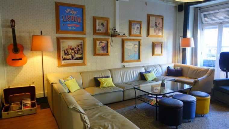 Living room in Goodmorning hostel