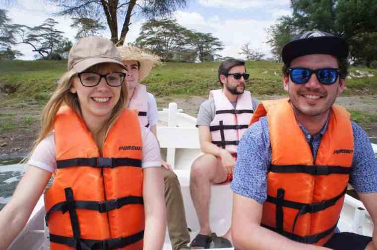 Boat ride around the Lake Naivasha