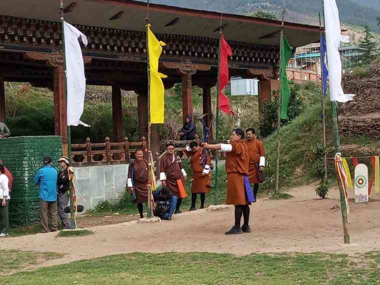 Bhutan's national sport is watched by spectators