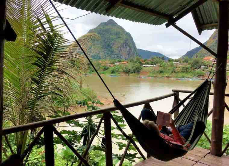 relaxing during a Nong Khiaw 3 day itinerary