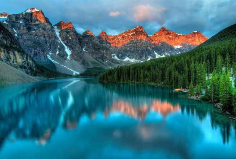 A lake in Western Canada