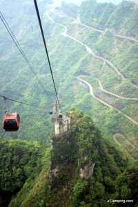 View from cable car in ZhangJiaJie
