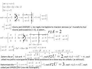 Układ równań z parametrem