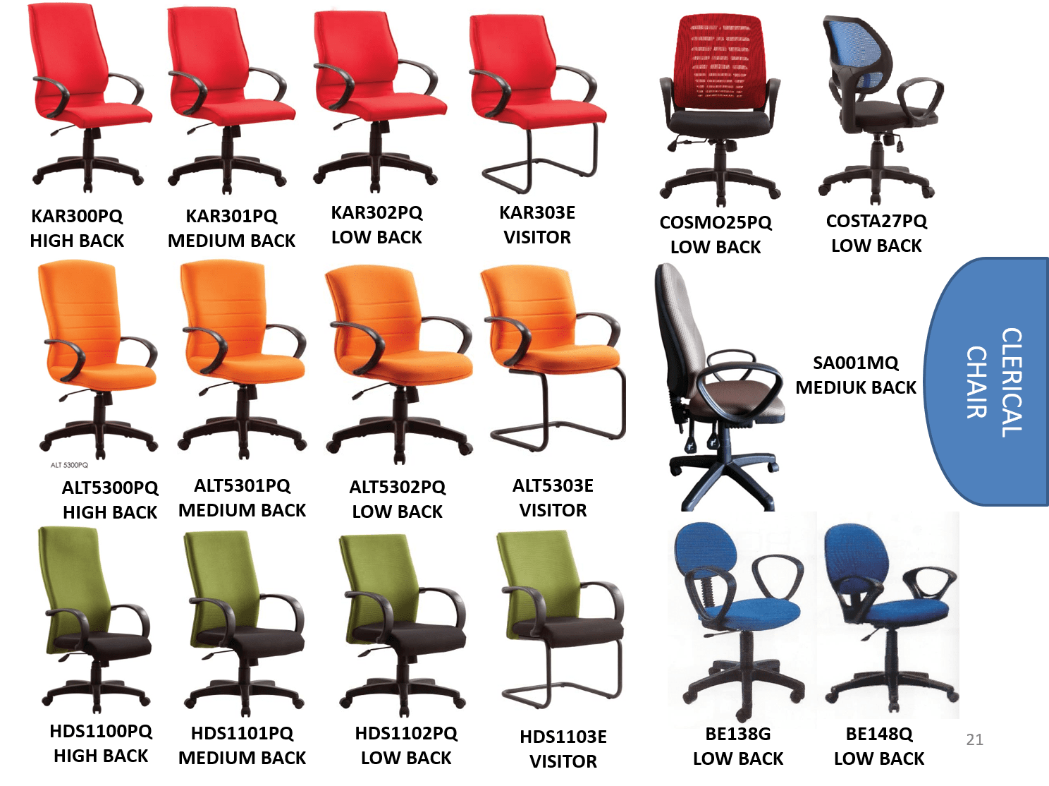 office chair malaysia teal rocking ergonomic etrendfurniture cometrend