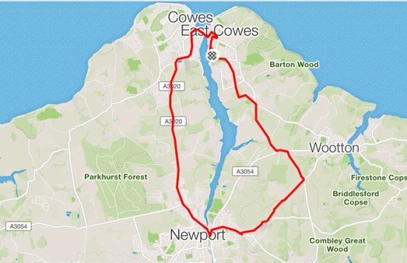 East Cowes – Newport – East Cowes – Elevation 819ft