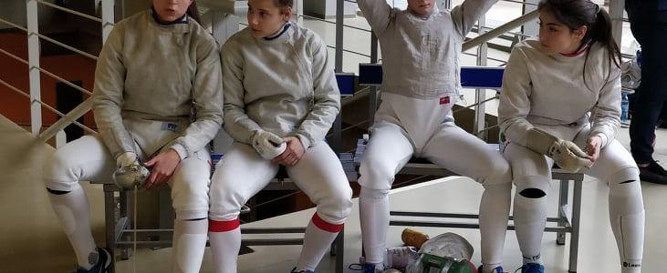 Европейско първенство Хърватия кадетки сабя отборно