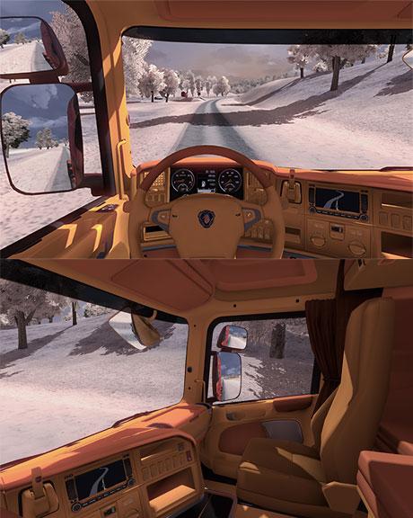 Mod Interior Bus Ets2 : interior, Scania, Orange, Interior