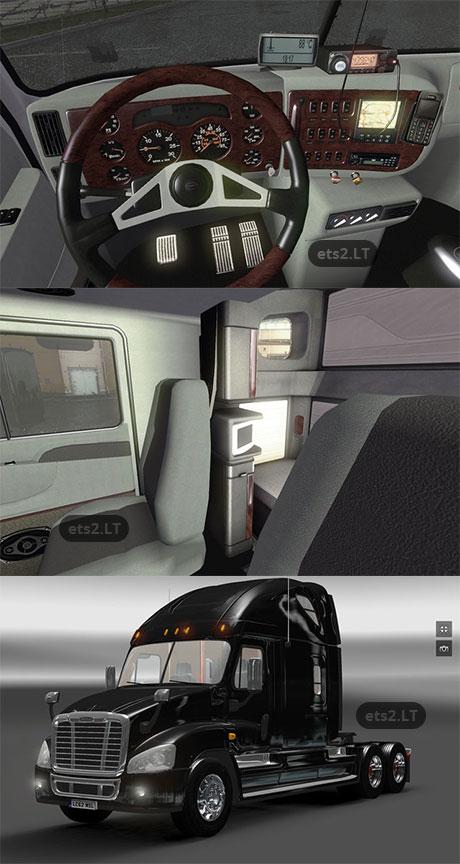 Mod Interior Bus Ets2 : interior, Freightliner, Cascadia, Interior