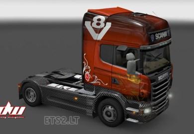 Carbon V8 Skin For Scania Streamline Truck