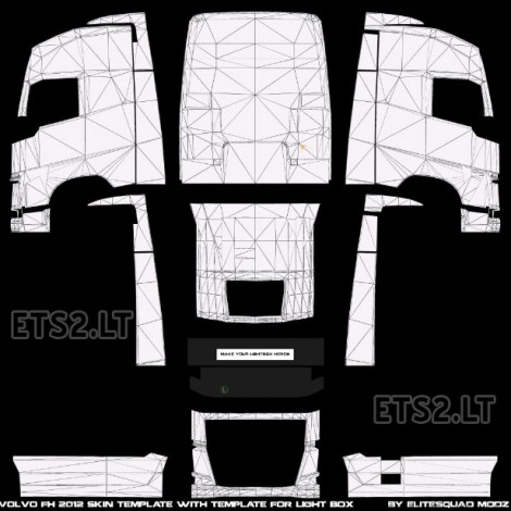 Volvo FH 2012 Skin and lightbox Template