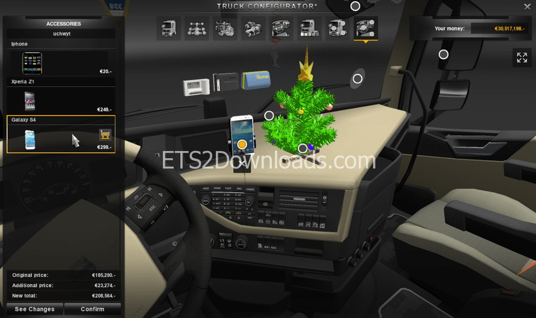 Mega Tuning and Interior Pack for Volvo FH - Euro Truck Simulator 2