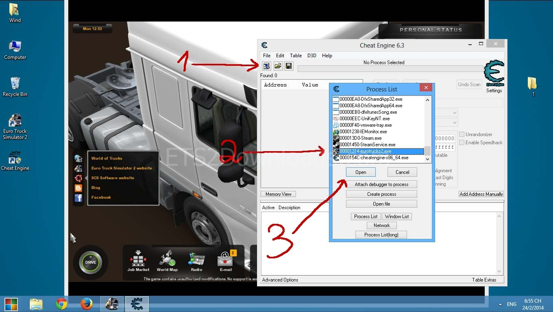 как в игре euro truck simulator 2 добавить денег
